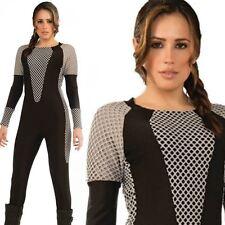 LADIES ADULT KATNISS EVERDEEN HUNGER GAMES SURVIVAL SWIMSUIT FANCY DRESS COSTUME