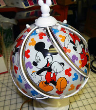 Antique Mickey and Minnie Mouse 3-Way Touch Lamp White Disney