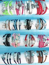 $0.7 each, US SELLER -100 pcs wholesale infinity bracelet friendship charm