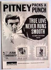 GENE PITNEY 1963 Poster Ad TRUE LOVE NEVER RUNS SMOOTH