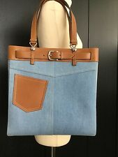CHRISTIAN DIOR BNIB DENIM/LEATHER TOTE/SHOPPER SHOULDER/BAG AUTHENTICITY CARDS