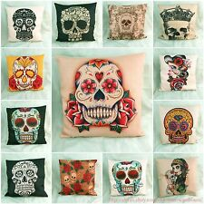 wholesale 10pc Sugar skull Day of the Dead cushion cover couch throw pillow case