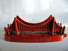 Red GOLDEN GATE BRIDGE Metal Souvenir Building SAN FRANCISCO