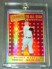 1997 TOPP'S MICKEY MANTLE ALL STAR FINEST REFRACTOR REPRINT 1958 TOPP'S #25
