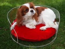 Wunderschönes Designer Hundebett / Katzenbett aus Acryl, rund,Schlafplatz, Möbel