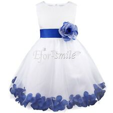 Petals Lace Baby Princess Bridesmaid Flower Girl Dresses Wedding Formal Party