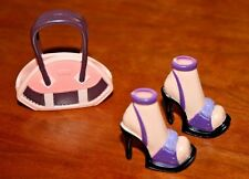 BARBIE DOLL MY SCENE PURPLE SHOES & BROWN/PINK PURSE