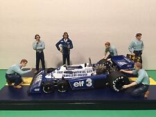 TSM True Scale Miniatures Team Tyrrell Pit Crew Figurines 1:18 Car Not Included