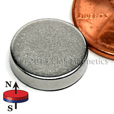 "N45 Neodymium Magnet Disc Dia 1/2x1/8"" Strong NdFeB Rare Earth 10-Counts"