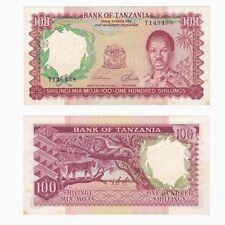 1966 TANZANIA 100 Shillings Banknote - P5b - EF.