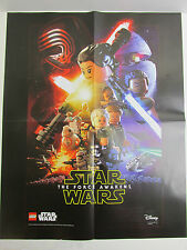 LARGE star wars LEGO POSTER the FORCE AWAKENS episode VII size 60X42cm A2 promo