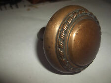 "Antique Georgian Bronze Brass Door Knob Ornate Victorian 2 1/4""w"
