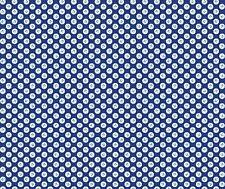 Oriental Blue leaf motif navy fabric fq 50 x 56 cm MK 1427 B9 100% Cotton