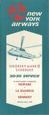 New York Airways system timetable 7/1/70 [5044]
