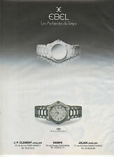 Publicité Advertising  1988  Montre EBEL