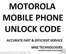Motorola XT925 XT615 Unlock Code Permanent Unlock to All networks
