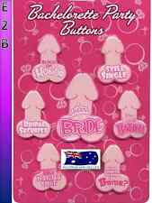 Pecker Penis Bachelorette Bride to Be Buttons Girls Night Out Hens Night Party