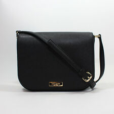 NEW Kate Spade Laurel Way Large Carsen Crossbody Black Saffiano Leather Handbag