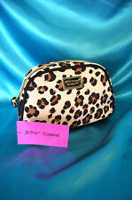 Betsey Johnson Make Up Bag Leopard Large Loaf Travel Cosmetic Case NWT Cute!