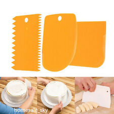 3pcs Pastry Butter Dough Cake Scraper Cutter Bake Decorating DIY Kitchen Tool