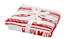 New IKEA Red & White Flower Christmas Vinter Guest Hand Towels 2 pack Terry