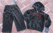 NEW $50 Baby Boys NIKE Track Running Sweat Suit Pants Jacket 24m 24 m Black Red