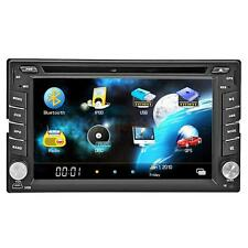 "6.2"" HD 2 DIN Car Stereo DVD Player Touch Screen Radio Bluetooth MP3 Iopd Black"