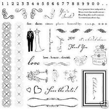 FISKARS Clear Stamps WEDDING Huge 8x8 Set BEAUTIFUL!