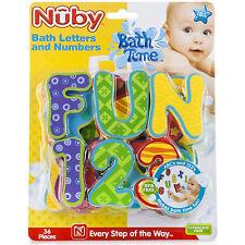Nuby bebé Hora Del Baño Divertido Learning Letras y números Juguete 36 Piece Set