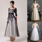 Vintage Lace Wedding Prom Cocktail Ball Gown Evening Formal Dress Plus Size 2-24