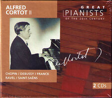 Alfred CORTOT 2 GREAT PIANISTS OF THE 20TH CENTURY 2CD Chopin Debussy Franck