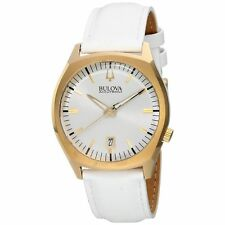 Bulova Men's 97B131 Accutron II Surveyor Collection White Leather Band Watch