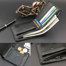 Men Leather Wallet Bifold Credit Card Holder Coin Zipper Clutch Money Clip Purse