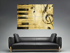 Partition Music Note Musicals Notes  Wall Art Poster Grand format A0 02