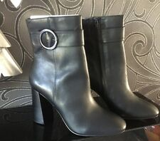 BNWT Classy M&S AUTOGRAPH Black Leather Insolia Ankle Boots *Size 7* RRP £85