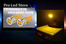 T10 High Power 6 LED Super Bright Amber Yellow Light Lamp for Car License Plate