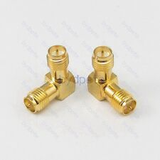 Female RP-SMA to Female 90 degree L Shape male pin RF Adapter Connector Convert