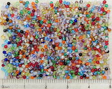 1000 Bulk Preciosa Czech Glass 4mm Assorted Color Mix Smooth Round Druk Beads