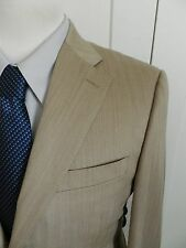 Canali Light Brown Herringbone Exclusive 2 Button Business Suit 38R $2395