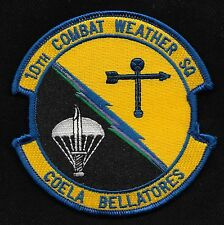 USAF 10th COMBAT WEATHER SQUADRON 10th CWS MILITARY PATCH COELA BELLATORES