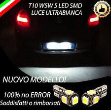 COPPIA LUCI TARGA 5 LED BMW SERIE 1 E87 T10 W5W CANBUS NUOVO MODELLO NO ERROR