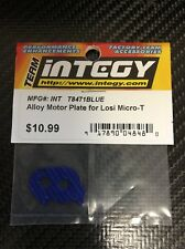 Integy Aluminum Alloy Motor Plate for Losi 1/36 Micro T Truck Motor Mount Blue