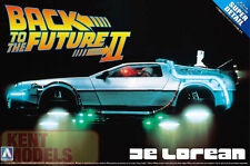 AOSHIMA 1/24 BACK TO THE FUTURE DELOREAN PLASTIC MODEL KIT - PART 2 *UK STOCK *