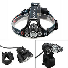30000Lm 3 x CREE T6 LED 2 Modes Bicycle Lamp Bike Light Headlight Cycling Torch