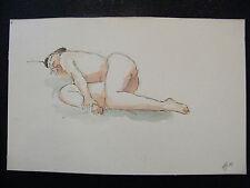 Acuarela Mujer Desnuda 2003 André Simon (1926-2014) Artista De Lorena