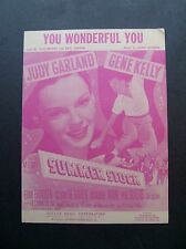 "You Wonderful You from ""Summer Stock"" sheet music Judy Garland Gene Kelly"