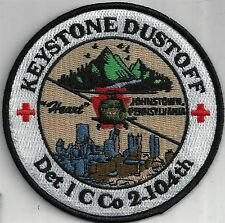 US ARMY DET 1 C CO 104 AVN PATCH-     'KEYSTONE DUSTOFF'      COLOR