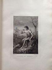F. ROSASPINA S GIOVANNI NEL DESERTO ACCADEMIA BELLE ARTI acquaforte 1830 BOLOGNA