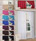 PAIR OF THERMAL CURTAINS PENCIL PLEAT BLACKOUT/LIGHT REDUCING LINED CURTAINS