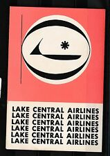 84438) Luftpost Vignette Air Mail label, Lake Central Airlines Type 1